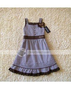 little girl dress   ... Sleeveless Spaghetti Ruffle Little Girls Dress - DinoDirect.com