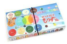 Rikagaku KittoPass Kids Smooth Surface Wet-Erase Magic Crayon - 12 Color Set - RIKAGAKU KKD-12C
