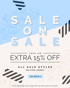 It's a sale on sale extravaganza! We're clearing out the shop to make way for… Sale Banner, Web Banner, Banners, Email Design Inspiration, Layout Inspiration, Design Ideas, Web Design, Layout Design, Graphic Design Typography