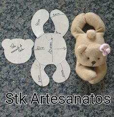 Best Sewing Diy Stuffed Animals Toys 43 Ideas – Vzory na šití Doll Crafts, Sewing Crafts, Sewing Projects, Sewing Diy, Fabric Sewing, Art Projects, Sewing Ideas, Sewing Stuffed Animals, Stuffed Animal Patterns