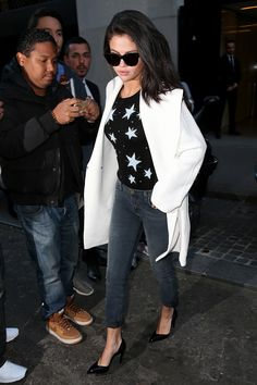 most of these outfits are amazing. In J Brand jeans and Celine sunglasses   - HarpersBAZAAR.com