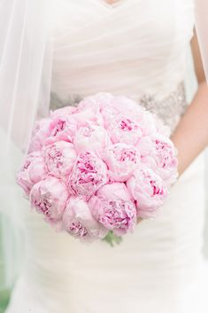 Pink Peonies Wedding Bouquet // Ph: Michelle Lange // Floral Design: Westchester Floral Decorators