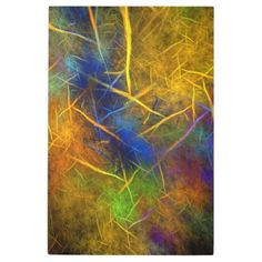 Fractal Lightning (Storm Flame) Metal Print - beauty gifts stylish beautiful cool