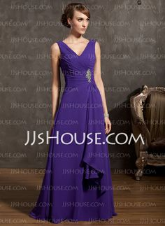 Mother of the Bride Dresses - $126.99 - A-Line/Princess V-neck Floor-Length Chiffon Mother of the Bride Dress With Ruffle Beading (008014868) http://jjshouse.com/A-Line-Princess-V-Neck-Floor-Length-Chiffon-Mother-Of-The-Bride-Dress-With-Ruffle-Beading-008014868-g14868/?utm_source=crtrem&utm_campaign=crtrem_US_28010