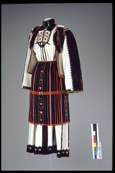 Folk costume, 1870-90, Macedonia.