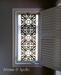 Artemis and Apollo: Dollar Store Treasures – DIY Window Covering  cute idea!