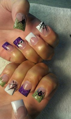 Halloween Nails .. Spider Web