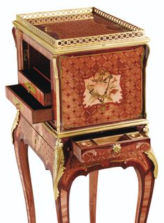 c1760-70 A MARQUETRY JEWEL CASKET, LOUIS XV, CIRCA 1760-1770, STAMPED L.BOUDIN, P. DENIZOT ET JME Estimation  30,000 — 50,000  EUR 39,452 - 65,753USD. unsold