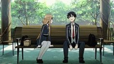 finally getting to be together after so long, asuna and kirito <3