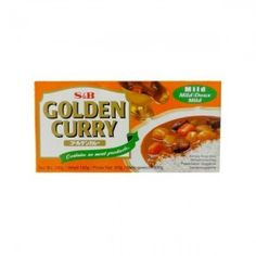 Golden Curry mild.   Milde Currypaste zur Zubereitung von Curry mit Fleisch, Tofu, Gemüse, ....   Mit Rezept auf der Homepage!