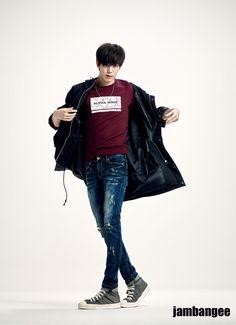 "Hongbin, ""yeah, it's fine... Take it off if you want...."""