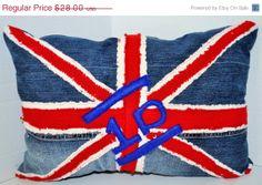 SALE RYLO One Direction 1D United Kingdom Union Jack throw pillow by RYLOwear, $25.20