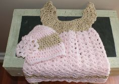 baby girl pink clothes | Pink Baby Dress and Hat, Baby Clothes, Girl Clothing Set, Child frock ...