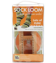 Knitting Board Sock Loom--what??  How cool!!  If my kids can make rainbow loom, they can start making socks too :).