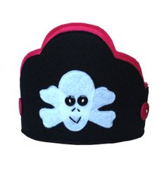 Yo Ho Ho Pirate Crown in Pink by themerrycrownsociety on Etsy, $17.00