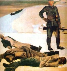 "A.A. Deineka, ""The interventionist's mercenary,"" 1931"