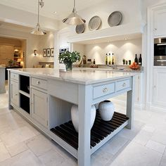 This contemporary shaker kitchen is the perfect addition to any modern kitchen space, featuring stunning grey island and bespoke storage solutions. Interior Exterior, Kitchen Interior, Kitchen Decor, Kitchen Design, Apartment Kitchen, Kitchen Layout, Kitchen Furniture, Kitchen Ideas, Open Plan Kitchen