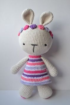 Mesmerizing Crochet an Amigurumi Rabbit Ideas. Lovely Crochet an Amigurumi Rabbit Ideas. Crochet Diy, Crochet Amigurumi, Crochet Bunny, Amigurumi Doll, Crochet Animals, Crochet Dolls Free Patterns, Amigurumi Patterns, Stuffed Toys Patterns, Handmade Toys