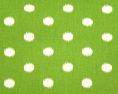 Ikat Dots Collection - Grasshopper green, could go for the chair and piped in navy.  Do a monogrammed lumbar pillow in navy fabric.
