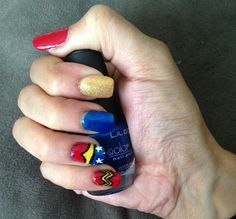 Day 190: Wonder Woman Nail Art - - NAILS Magazine