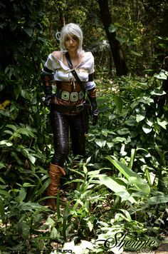 Ciri Shermie-Cosplay female elf costume LARP ranger thief armor clothes clothing fashion player character npc | Create your own roleplaying game material w/ RPG Bard: www.rpgbard.com | Writing inspiration for Dungeons and Dragons DND D&D Pathfinder PFRPG Warhammer 40k Star Wars Shadowrun Call of Cthulhu Lord of the Rings LoTR + d20 fantasy science fiction scifi horror design | Not Trusty Sword art: click artwork for source