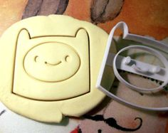 Finn Adventure time Cookie Cutter by StarCookies on Etsy