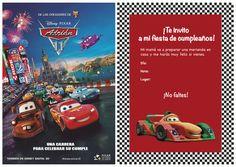 Celebraciones Caseras: invitación cumpleaños cars2
