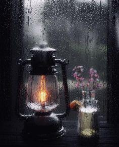 light through rain.