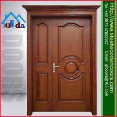 what front door color goes with light brick exterior house Unique Front Doors, Modern Front Door, Front Door Colors, Wooden Front Door Design, Wooden Front Doors, Rustic Patio Doors, Door Frame Molding, Room Door Design, House Design