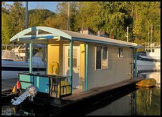 If you are considering a small houseboat or floating home for a retreat on the water, this might be a perfect alternative.