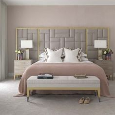 Casual Or Elegant Bedroom Design (What To Choose?) - Interior Decor and Designing Elegant Bedroom Design, Luxury Bedroom Design, Master Bedroom Design, Master Suite, Bedroom Designs, Modern Elegant Bedroom, Eclectic Modern, Pink Bedroom Decor, Bedroom Colors