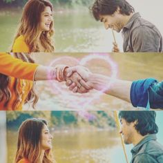 Everything started with that handshake. Cute Love Couple, Beautiful Couple, Tv Actors, Actors & Actresses, Hands Together, Endless Love, Ares, Jennifer Winget, Shawn Mendes