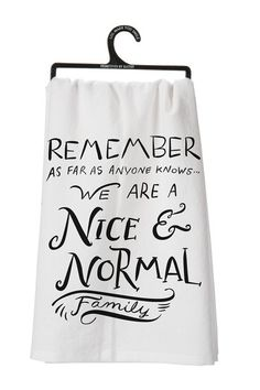 Nice & Normal Tea Towel by Primitives by Kathy on @HauteLook