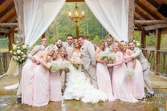 Indigo Falls - Paris Mountain Photography - Pink - Flowers - Wedding Group Wedding Group Photos, Mountain Photography, Bridesmaid Dresses, Wedding Dresses, Pink Flowers, Family Photos, Indigo, Wedding Flowers, Paris