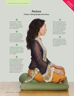wondered how to get into the mindset of mindfulness and meditation? Here is a great infographic, courtesy of Magazine!Ever wondered how to get into the mindset of mindfulness and meditation? Here is a great infographic, courtesy of Magazine! Pranayama, Kundalini Yoga, Qi Gong, Meditation Cushion, Meditation Space, Guided Meditation, Meditation Corner, Reiki Meditation, Sitting Meditation