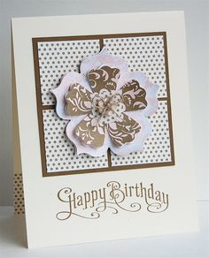 Perfectly penned ; Fun flowers sizzix bigz die ; Birthday