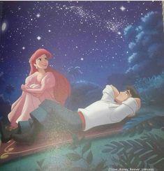 Ariel and Eric<br> Disney Princess Ariel, Mermaid Disney, Disney Little Mermaids, Mermaid In Love, Ariel The Little Mermaid, Disney Couples, Disney Girls, Goth Disney Princesses, Disney Cartoons