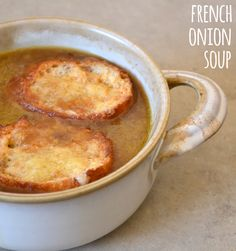 French Onion Soup - This French onion soup is so comforting and satisfying on a cold day.