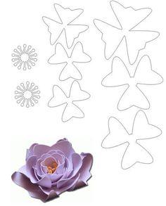 molde de flor lilas