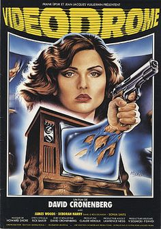 Videodrome 1983. I have been on a Cronenberg binge lately. You must watch this movie.