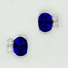 A matched pair of oval Tanzanites set with Diamonds make up this very lovely pair of earrings Tanzanite Earrings, Stud Earrings, Very Lovely, Designer Earrings, Druzy Ring, Jewelry Collection, Jewelry Design, Diamonds, Make Up
