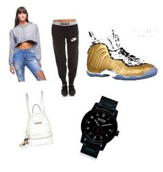 by lilcarmelmami on Polyvore featuring polyvore fashion style NIKE River Island Nixon clothing