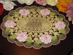 Made to order crochet doily,  large doily, holiday doily, kronecrochet