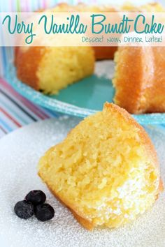 {Dessert Now, Dinner Later!} Very Vanilla Bundt Cake- extremely MOIST & full of flavor; no frosting required!