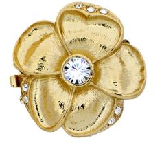 Large ThreeStrand Enamel Flower Clasps in Gold by GoldenTwinClasps, $24.65