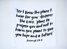 I want this!! NEW Organic Cotton Muslin Swaddle Blanket - Jeremiah 29:11 – Modern Burlap