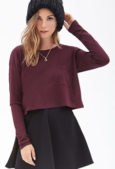 Boxy Pocket Top | FOREVER21 - 2000057814