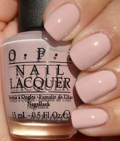 OPI- My Very First Knockwurst. The only nude I need for the fall & it's perfect for fair skin too!