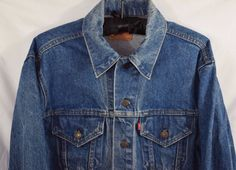 #Levi's Men's 44 Blue #Denim Jean #Trucker #Jacket  #Cotton Medium Wash USA Made #Levis #JeanJacket