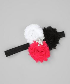 Take a look at this Pirate Deluxe Shabby Rose Headband by Super Twirl on #zulily today!